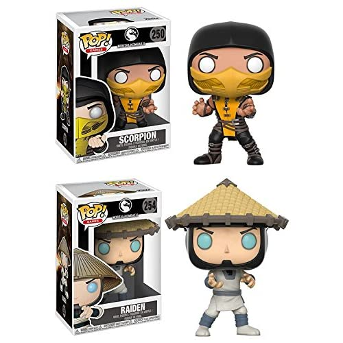 Funko POP! Mortal Kombat: Scorpion + Raiden – Stylized Video Game Vinyl Figure Set NEW