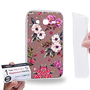 Case88 [Samsung Galaxy Core Prime G360] Gel TPU Carcasa/Funda & Tarjeta de garantía - Art Fashion Autumn Season Floral 1830