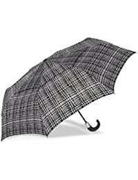 WindPro Vented Auto Open/Auto Close Compact Print Umbrella: Harris Check