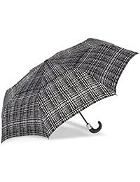 WindPro Vented Auto Open/Auto Close Compact Print Umbrella: Harris Check