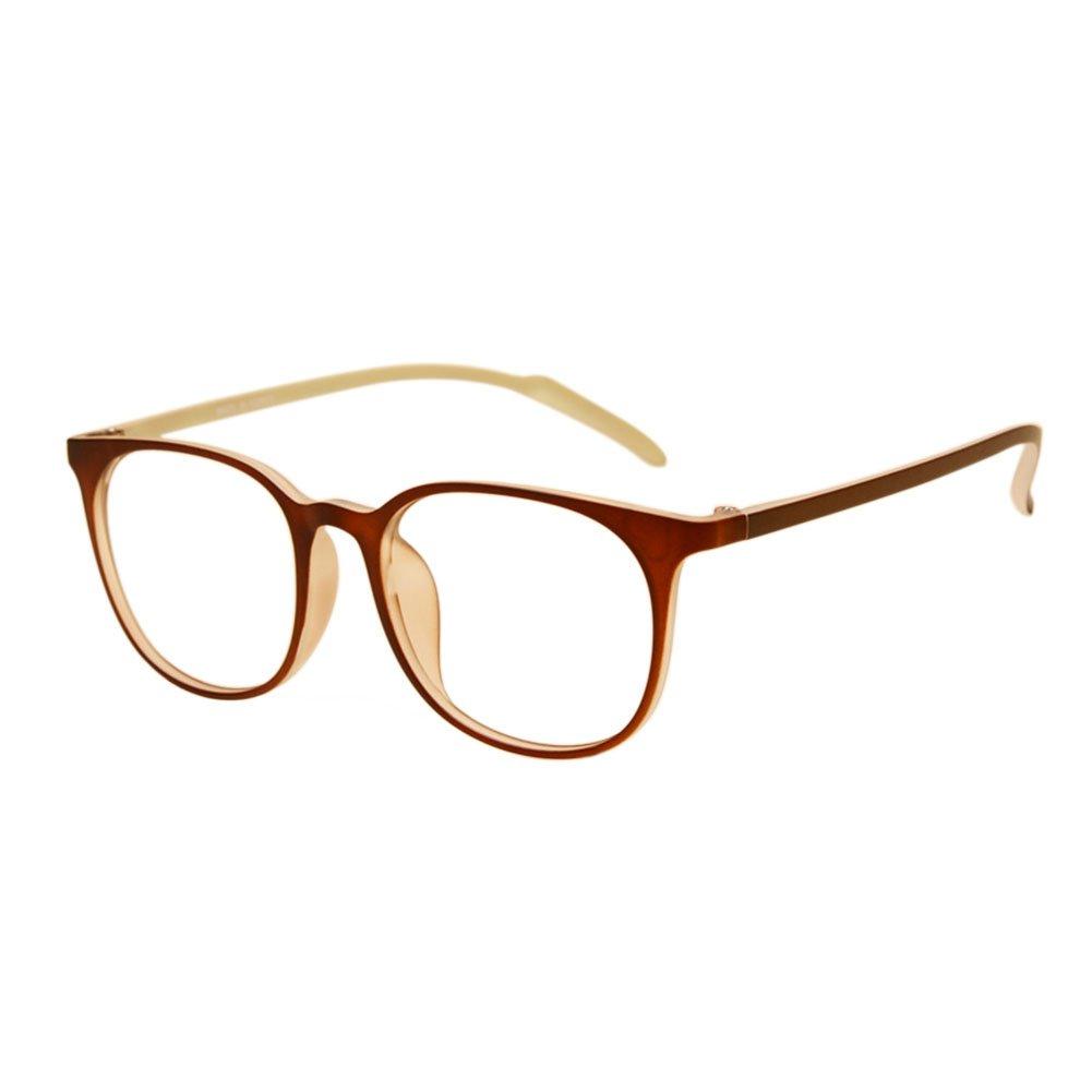 82822fdd61 Zhuhaixmy Men Women Big Oval Frame Student Myopia Glasses Ultralight TR90 Frame  Spectacles Classic Retro Eyeglasses Nearsighted Eyewear Strength -0.5~-6.0  ...