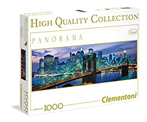 Clementoni - Puzzle de 1000 piezas, High Quality Panorama, diseño New York: Brooklyn bridge (392094)