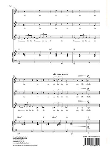 The Beatles: Michelle (SSA/Piano). Partituras para SSA ...