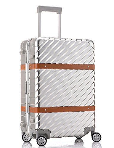 28h Cabin - All Al-Mg Alloy HardShell Carry-on/Cabin Luggage TSA Approved Silver 28