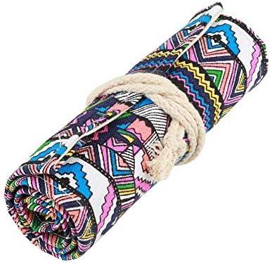 NOBRAND Estuche de lápices de Colores, sobre de Tela étnica a Mano, Estuche de papelería, Bolsa de Almacenamiento para Bolsa de bolígrafos (48 Ranuras).: Amazon.es: Hogar