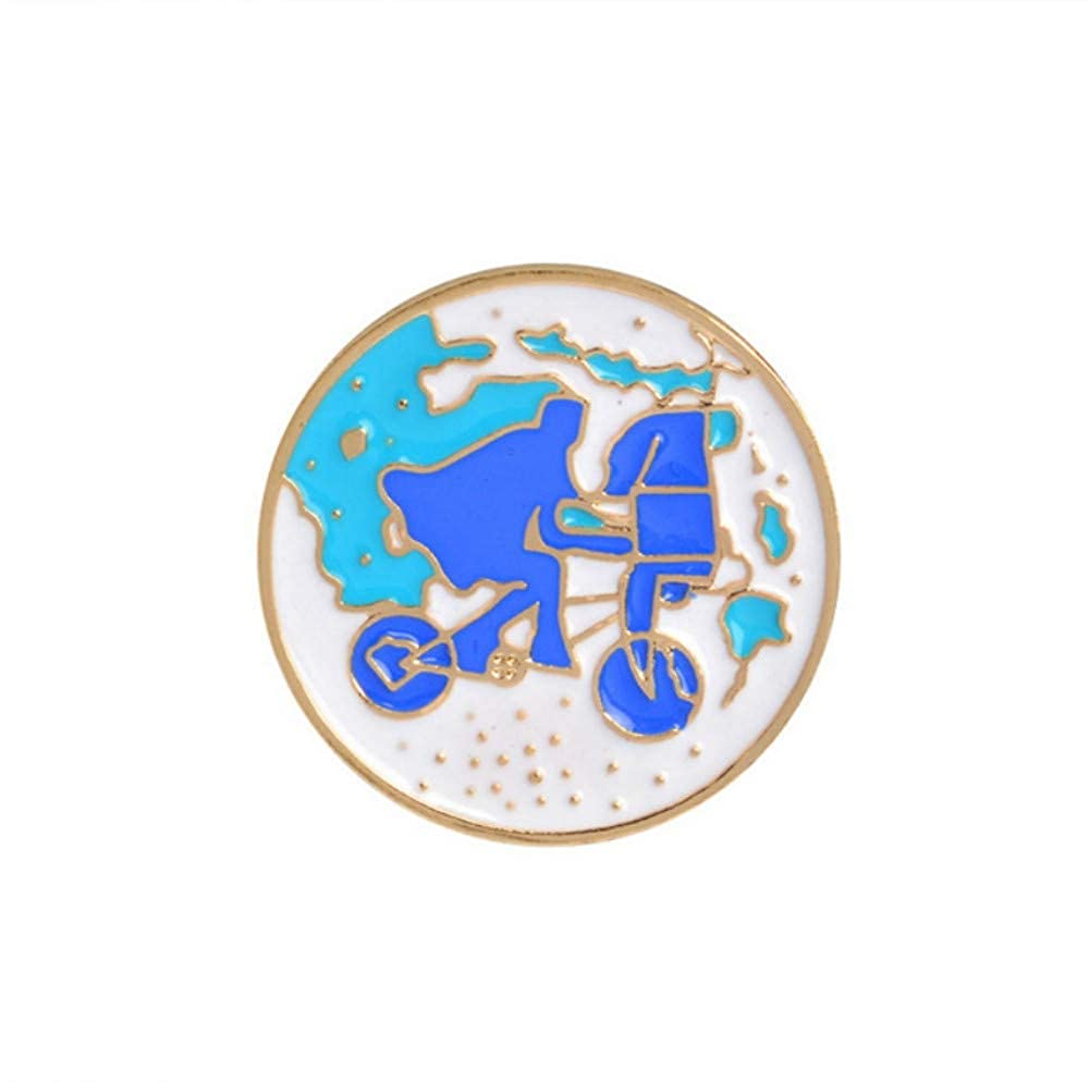 YUYINGXIANG Broches y alfileres Pink Bicycle Earth Wish ...