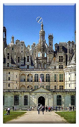 - Single-Gang Blank Wall Plate Cover - Chateau De Chambord Architecture France Europe