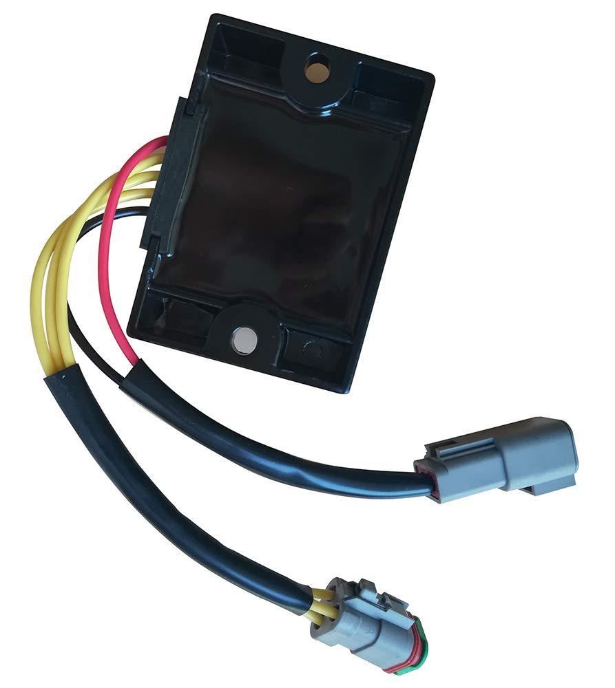 Replacement for Asd6001 Rectifier Voltage Regulator For Sea Doo SeaDoo 3D DI GTI 2005-2007// GTX 2002-2007//RXP 04-07// RXT 05-07// Challenger Speedster Sportboat 05-07//Islandia 06-07//Sportster 03-06