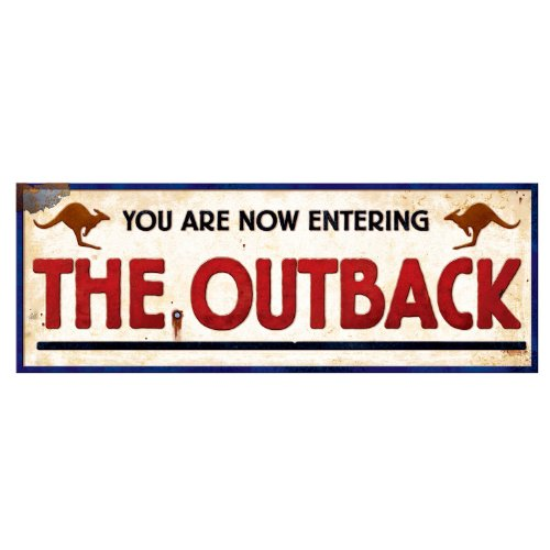 Beistle 54323 Outback Sign, 8-Inch by 22-Inch, 24-Pack