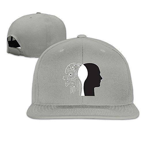 Custom Unisex-Adult Thinking Head Adjustable Hiphop Caps Hat Ash (Converse Headphones)