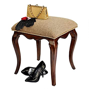 Incredible Design Toscano Lady Guinevere Makeup Chair Vanity Stool Bedroom Bench 20 Inch Hardwood Cherry Finish Squirreltailoven Fun Painted Chair Ideas Images Squirreltailovenorg