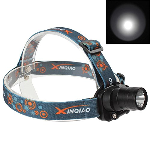 OriGlam®3 Modes 300 Lumens Q5 LED Rechargeable Headlamp with 180 Degree Rotatable Head + Charger