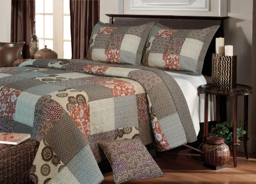 Greenland Home Fashions Stella Quilt Set, Full/Queen - Full Queen Quilt Bedding