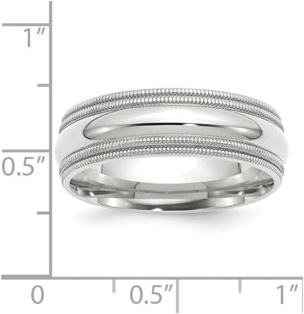 10K Yellow Gold Wedding Band Ring Milgrain Standard Half Round Solid Polished 5 mm 5mm Milgrain Half Round B