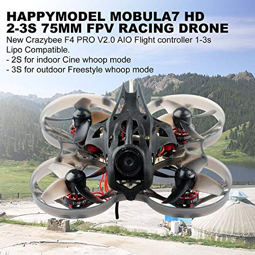 Wikiwand Happymodel Mobula7 HD 2-3S 75mm F4 Pro Whoop FPV Racing Drone Flysky Receiver