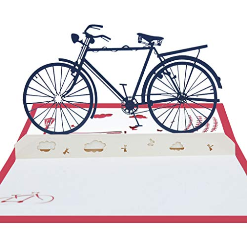 cici store 3D Pop Up Bicycle Greeting Card Christmas Card Valentine's Day Mother's Day Birthday Card]()