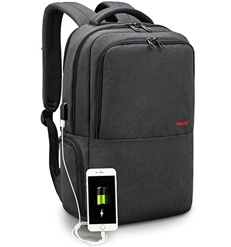 LAPACKER Travel 15.6 inch Business Lightweight Backpack for Laptop with USB Charging Port, Durable College Bookbag for Women Mens fits UNDER 17 Inch computer, Macbook
