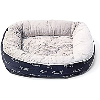 Amazon Com Akc Casablanca Round Solid Pet Bed Dog Bed
