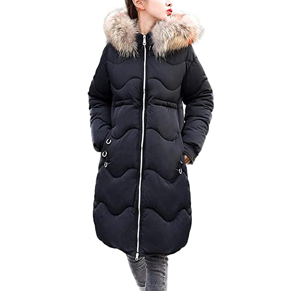 357de0360cfa ESAILQ Women Outerwear Button Coat Long Cotton-Padded Jackets Pocket Faux  Fur Hooded Coats Winter Coats Canada Womens Down Winter Coats Hooded Parka  Womens ...