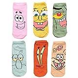 Spongebob Characters Adult 6-pack Low-cut Socks