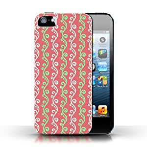 KOBALT? Protective Hard Back Phone Case / Cover for Apple iPhone 5/5S   Red Design   Vine Collection