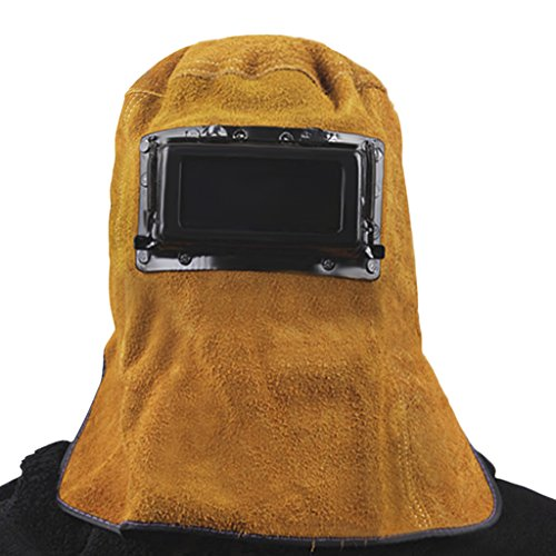 Leather Welder Welding Protective Gear Mask Work Cap Cowhide Auto Darkening Filter Lens Welding Hood Helmet