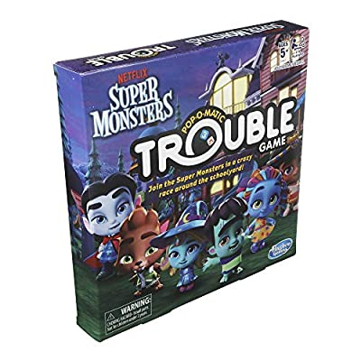 Hasbro Games Trouble: Netflix Super Monsters Edition Board Game for Kids Ages 5+: Toys & Games