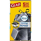 Glad ForceFlex Kitchen Pro Drawstring Trash Bags - Fresh Clean - 20 Gallon - 80 Count (Packaging May Vary)