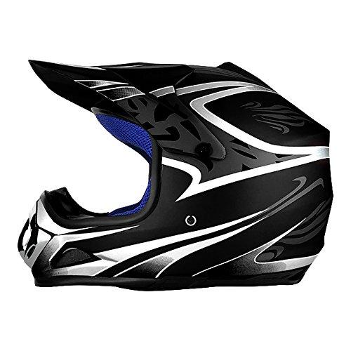 Full Face Off Road Motocross Helmet DOT Approved Matte Black (Youth Size)
