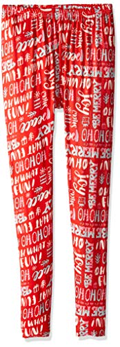 Two Left Feet Women's Holiday Leggings, Seasons Greetings, S/M