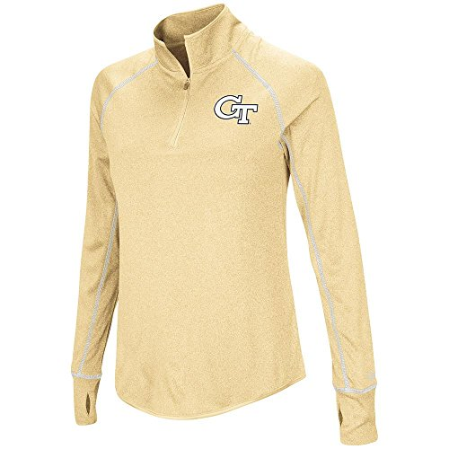 Wind College Jacket Pullover (Womens Georgia Tech Yellow Jackets Quarter Zip Pull-over Wind Shirt - M)