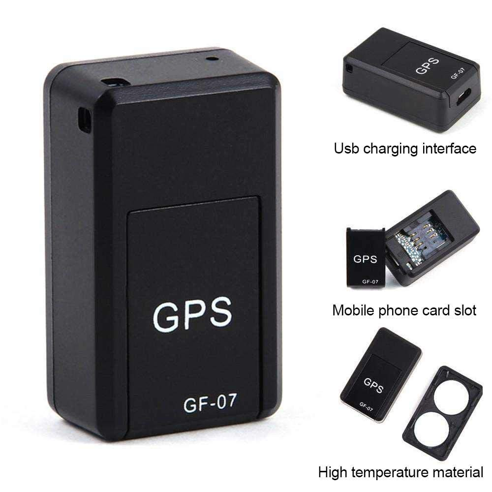 Teepao Vehicle GPS Tracker SMS Locator Mini Portable Vehicle GF07 Magnetic Tracking Device Locating GF07 Magnetic Tracking Device GPRS Locator Global Track Query Recording Anti-Lost Device