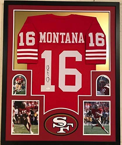 1a511e126 FRAMED JOE MONTANA AUTOGRAPHED SIGNED SAN FRANCISCO 49ERS JERSEY JSA COA