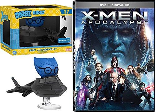 Marvel Beast with Blackbird X-Men: Apocalypse (DVD + Digital HD) Cinematic Universe Super Hero DVD Funko Vinyl Figure Bundle