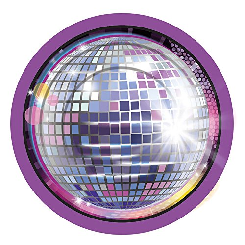 Forum Novelties X77971 Disco Small Plates, Multi-Colour, One -