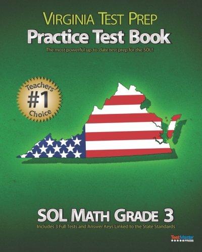 VIRGINIA TEST PREP Practice Test Book SOL Math Grade 3