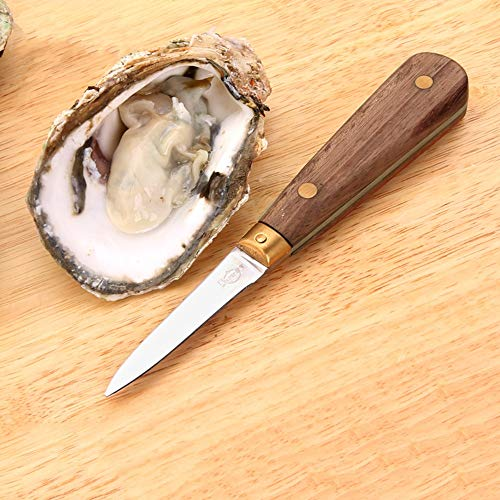 - PAPWOO Oyster Shucking Knife 1Pc Stainless Steel Wooden Handle Seafood Opener Oysters Clam Pearl Shucker Shell & Opening Tool Seafood Knives Clam Knife Shellfish Knife Wood Handle Kitchen Tools