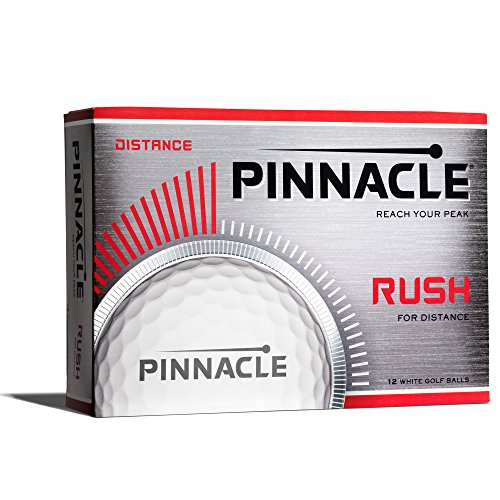 Pinnacle Rush Golf Balls, White (One Dozen)
