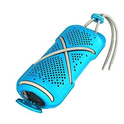 AUKEY Altavoz Bluetooth Portátil, Altavoces Inalámbricos a Prueba de Agua para Exterior, con Dual Drivers y Micrófono Incorporado para iPhone, Samsung y Más