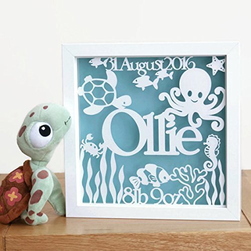 Personalised baby gift baby name frame new baby papercut baby personalised baby gift baby name frame new baby papercut baby boy nursery decor negle Choice Image