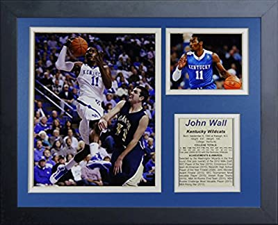 "John Wall - Kentucky Wildcats 11"" X 14"" Framed Photo Collage By Legends Never Die, Inc."