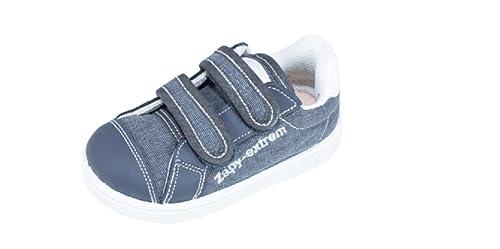 11ed74410 Zapatillas Lona Niño Marino Velcro ZAPY  Amazon.es  Zapatos y complementos