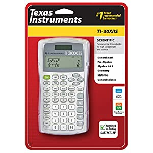 Texas Instruments TI30XIISWHITE 2-Line Scientific Calculator