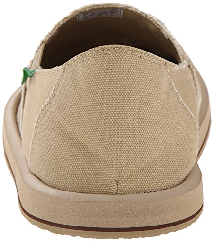 Sanuk Men's Vagabond Slip-On Loafer, Khaki, 8 M US
