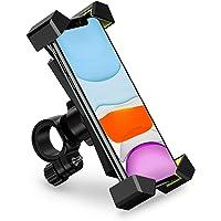 UGREEN Soporte Celular para Bicicleta Moto, Manillar Soporte Motocicleta Ajustable Compatible para iPhone 11 Pro Max XR X XS Max 8 Plus 7 6S, Samsung Galaxy S10 S9 Plus S8 S7 Edge S6 Note, LG, SONY, Motorola, HTC, Huawei, Xiaomi Y Oneplus y Mas