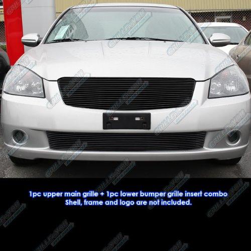 Fits 05-06 Nissan Altima Black Billet Grille Insert Combo #N87965H