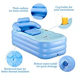 CO-Z PVC Portable Foldable Inflatable Bathtub Free Standing Bath Tub with Electric Air Pump