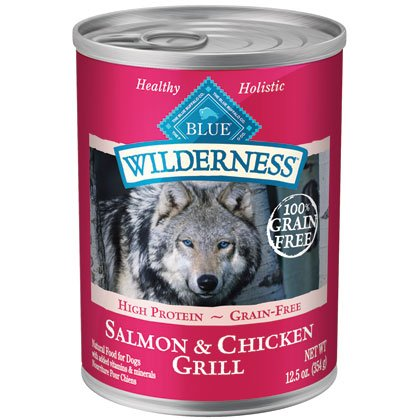 Blue Buffalo Wilderness Salmon & Chicken Grill - 12 - 12.5 oz. Cans