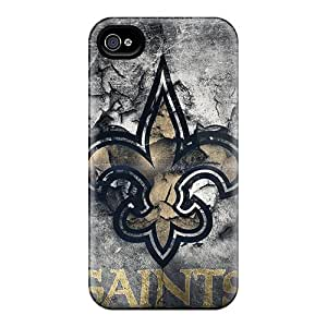 Perfect Cell-phone Hard Cover For Iphone 4/4s With Customized Colorful New Orleans Saints Image Cases-best-covers