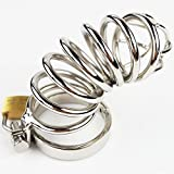 Caroline Giron Men Penis Chastity Cages Stainless Steel Chastity Device With Lock locking Adult Fetish Sex Toys Shop